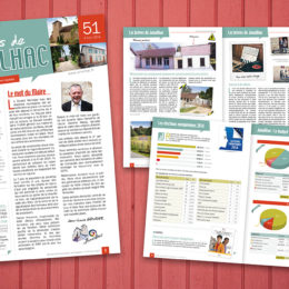 Client : Mairie de Janailhac // Conception bulletin municipal 8 pages
