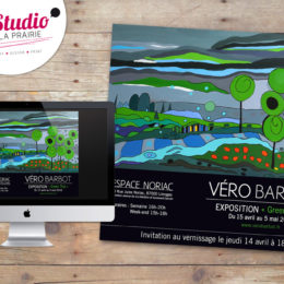 Client : Artiste Véro Barbot // Conception e-invitation exposition